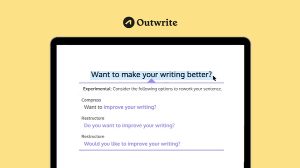Rewrite sentences with Outwrite